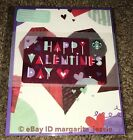 """STARBUCKS CANADA 2018 GIFT CARD W/GREETING """"HAPPY VALENTINE'S DAY"""" NEW NO VALUE"""