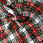 "Tartan 100 % Brushed Cotton Check Fabric Fat Quarter-Half Meter-58"" Wide Meter"