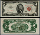 1953C $2 DOLLAR  US NOTE LEGAL TENDER PAPER MONEY CURRENCY RED SEAL LOT O37