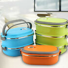 1/2/3 Layer Pop Thermal Insulated Bento Stainless Steel Food Container Lunch Box
