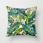 Polyester Pillow Case Cover Green Leaves Throw Sofa Car Cushion Cover Home Decor