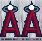 Los Angeles Angels Cornhole Wrap MLB Logo Game Board Skin Set Vinyl Decal CO414 on Ebay