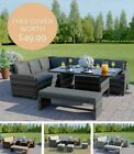 Garden Rattan Weave Furniture Corner Dining Table Sofa Bench Stools