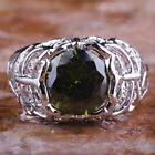 Charming Novelty Round Cut Periodt Gemstone Silver Ring Size 9