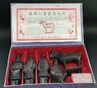 3 Terracotta Chinese Burial Soldiers and 1 Horse in the Manner of Qin Shi Huang