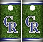 Colorado Rockies Cornhole Wrap MLB Field Game Board Skin Set Vinyl Decal CO481