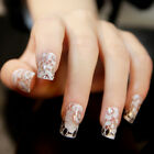 WHITE-LACE-FLOWER-FULL-COVER-NAIL-ART-STICKER-DECALS-DIAMOND-DIY-FOIL