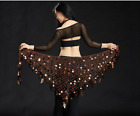NEW S35 Triangle Hand Crochet Belly Dance Hip Scarf Belt Costume Skirt 10 Colors