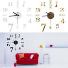 Popular Analog 3D Mirror Surface Large Number Wall Clock DIY Sticker Home Decor