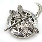 Aromatherapy Essential Oil Diffuses Gift Vintage Dragonfly Locket Necklace