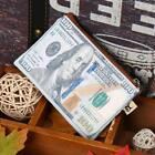 Synthetic Leather Dollar Euro Pattern Print Wallet Zipper Money Card DZ88 01