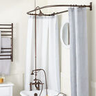 British Rim Mount Hand Shower Conversion Kit with Brass Shower Head and D Style