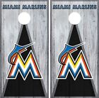 Miami Marlins Cornhole Wrap MLB Vintage Game Board Skin Set Vinyl Decal CO492 on Ebay
