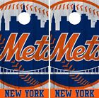 New York Mets Cornhole Wrap MLB Vintage Game Board Skin Set Vinyl Decal CO507 on Ebay