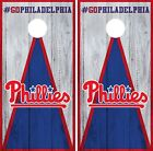 Philadelphia Phillies Cornhole Wrap MLB Vintage Game Skin Set Vinyl Decal CO511 on Ebay