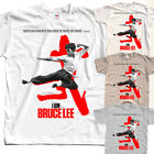I am Bruce Lee T-SHIRT (WHITE,NATURAL,KHAKI,ZINK) all sizes S to 5XL