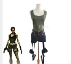 Hot! Game Tomb Raider Lara Croft Cosplay  Custom Made Halloween uniform