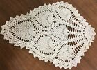 White handmade doily crocheted home decoration, Christmas decoration trivets