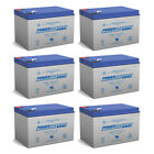 Power-Sonic 12V 12AH Battery Replaces GoPet Pet Pro QL Electric Scooter - 6 Pack