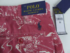 """Polo Ralph Lauren Relaxed Fit 10"""" Inseam Red Koi Fish Shorts NWT $79 Pony Logo"""