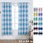 Cabana Stripe 52 x 84-Inch Window Drapes Curtains 2 Panels with Grommet Top