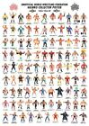 A4 Size Retro Art Print Checklist of WWF / WWE Wrestling Hasbro Action Figures