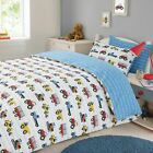 Dreamscene Transport Duvet Cover with Pillow Case Blue Kids Car Boys Bedding Set