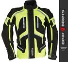 Richa Canyon 3 in 1 Hi Viz Yellow Black Textile Motorcycle Armoured  Jacket Neon