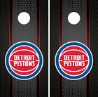Detroit Pistons Cornhole Wrap NBA Game Board Skin Set Vinyl Decal Art CO603 on eBay