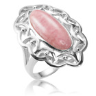 Ladies Shipton and Co Silver and 8.5ct Rhodocrosite Ring RQA523RR