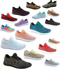 Внешний вид - Women's Fahsion Sparkling Glitter Lace Up Light Weight Sneaker Shoes Size 5 - 10