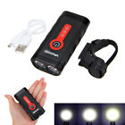 USB Rechargeable Bicycle Bike Head Front Headlight Light Built-in Battery Unit