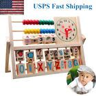 Children Baby Kids Learning Developmental Versatile Flap Abacus Wooden Toys USA