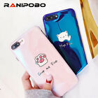 Blu-ray Cat Footpad Pattern Case For iphone X Case For ihone 6S 6 7 8 Plus Cover