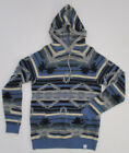 Men's Lucky Brand Pull Over Hoodie Sweater, New Blue Navy Knite LS Sweater Sz M