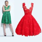 Holiday Lace Dresses Jade Green or Crimson Red Size Choice