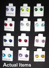 925 Sterling Silver Post Earrings CZ Birthstones Stunning Colors 7.mm Stones
