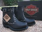 NEW Ladies Harley Davidson Deanne Black Leather Motorcycle Fashion Boots D87079