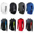 Mens Compression Top Shirt Base Layer Thermal Sport Gym Cycling Side Breath UK