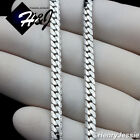 "16-40""MEN Stainless Steel 4mm Silver Diamond Cut Miami Cuban Chain Necklace*N161"