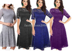 Lady Summer Party Gown Women Short Sleeve Dress Vintage Cocktail Maxi Dresses
