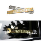 Car Styling Luminous Temporary Parking Card Phone Number Card Plate & Sucker HS1
