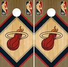 Miami Heat Cornhole Wrap NBA Wood Game Skin Board Set Vinyl Decal CO642 on eBay