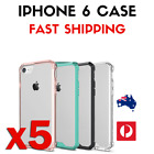 5 PACK - Phone 6 / Transparent Protective Full iPhone Cover Case / Coloured Case