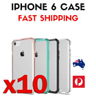 10 PACK - Phone 6 / Transparent Protective Full iPhone Cover Case / Coloured Cas