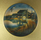 """THE DUCK INN Wild Wings Plate Sam Timm 1995 Vintage Cars Truck Fishing 9 1/4"""""""