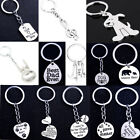 Mom Dad Present Keyring Paw Prints Cat Dog Pet Keychain Gifts Women Men Pendants
