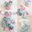baby boutiques in shreveport la - Boutique Newborn Baby Girl Floral Top Romper Pants Headband Outfits Clothes US