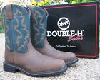 "NEW Men's Double-H Brown Leather 11"" Composite Toe Roper Work Boots DH5137"