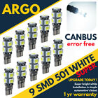 T10 Smd Led Xenon White Bulbs Super Canbus Error Free Car Side Light W5w Capless